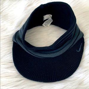 Nike Knit Soft Visor Gray Black One Size Fits All